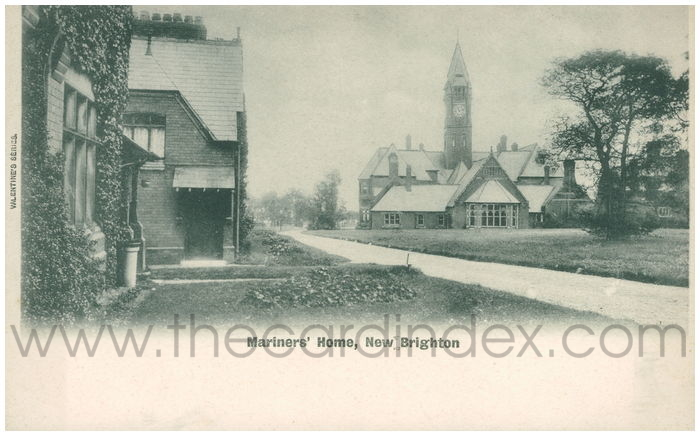 Postcard front: Mariners' Home, New Brighton