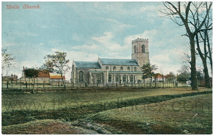 Postcard front: Wells Church