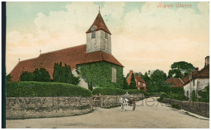 Postcard front: Rogate Church