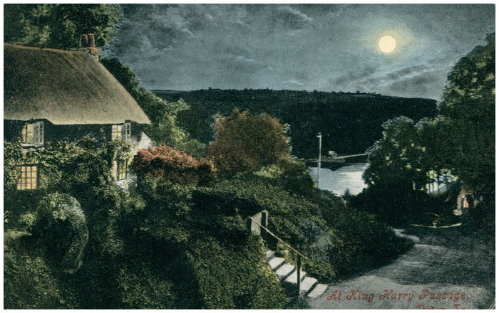 Postcard front: At King Harry Passage, River Fal