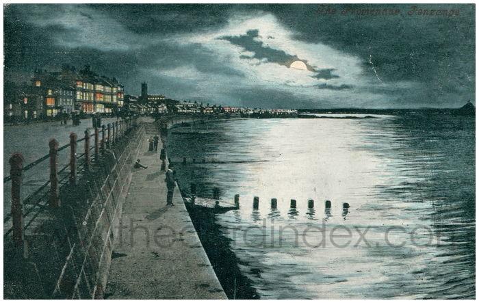 Postcard front: The Promenade, Penzance.