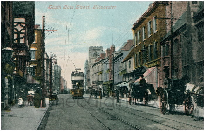 Postcard front: South Gate Street, Gloucester
