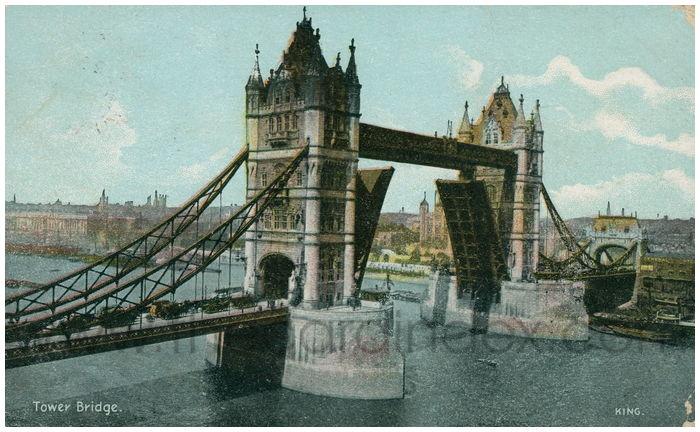 Postcard front: Tower Bridge.