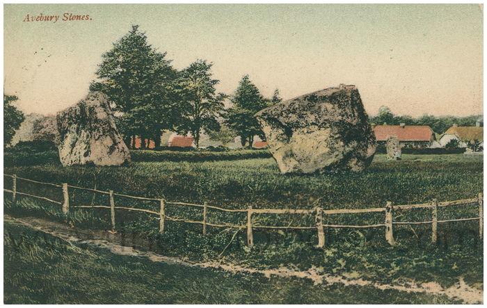 Postcard front: Avebury Stones