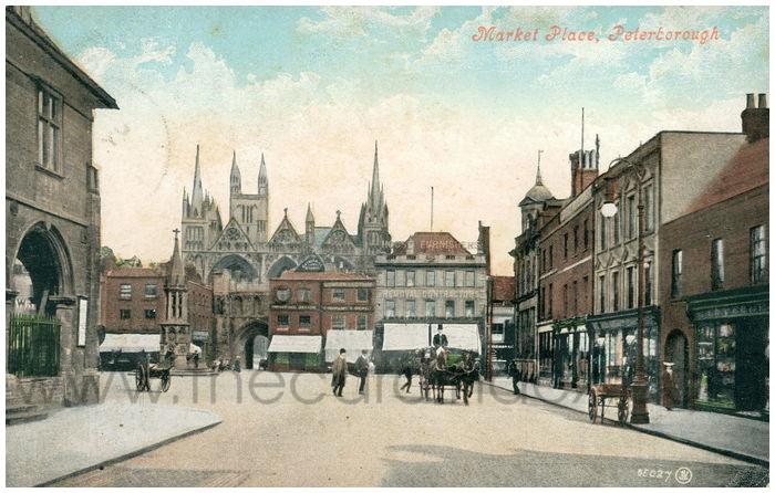 Postcard front: Market Place, Peterborough