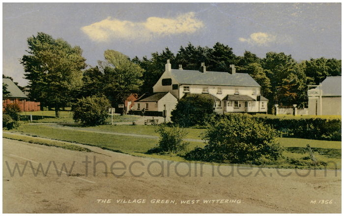Postcard front: The Village Green,West Wittering