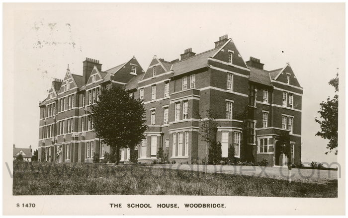 Postcard front: The School House, Woodbridge