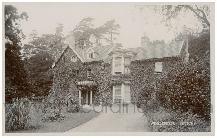 Postcard front: Woodbridge Rectory