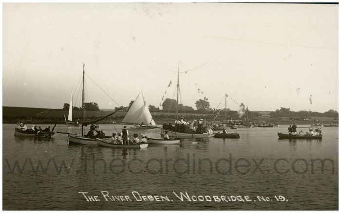 Postcard front: The River Deben, Woodbridge