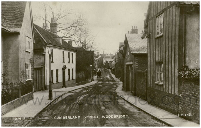 Postcard front: Cumberland Street, Woodbridge