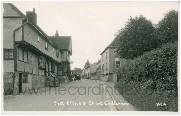 Postcard front: Post Office & Street Coddenham