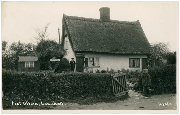 Postcard front: Post Office, Lawshall