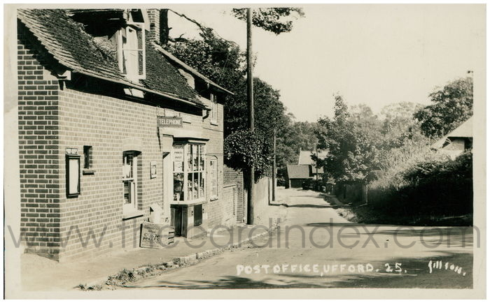 Postcard front: Post Office, Ufford