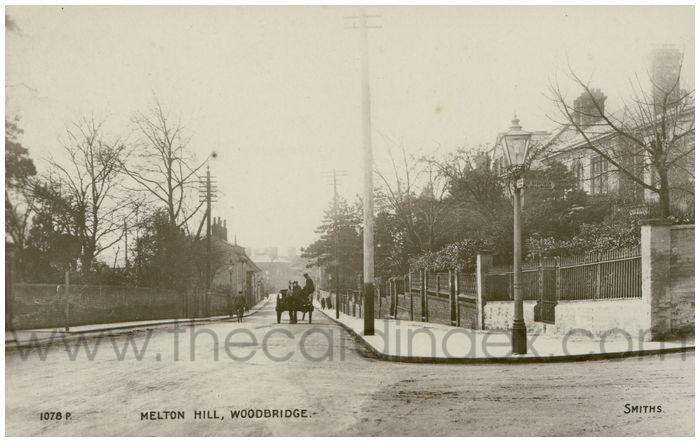 Postcard front: Melton Hill, Woodbridge