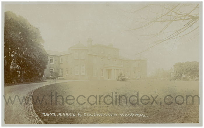 Postcard front: Essex & Colchester Hospital.