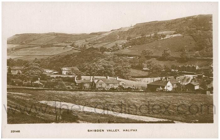 Postcard front: Shibden Valley, Halifax