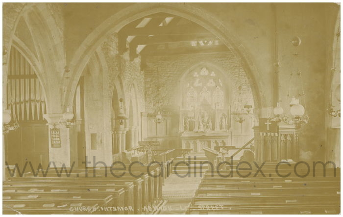 Postcard front: Church Interior. Adwick-le-Street