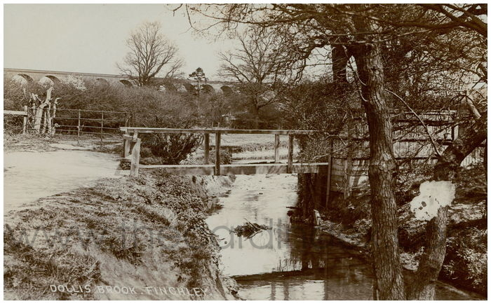 Postcard front: Dollis Brook, Finchley
