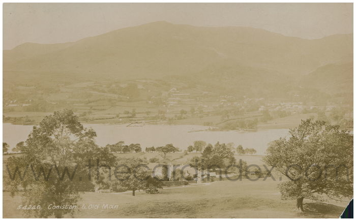 Postcard front: Coniston & Old Man