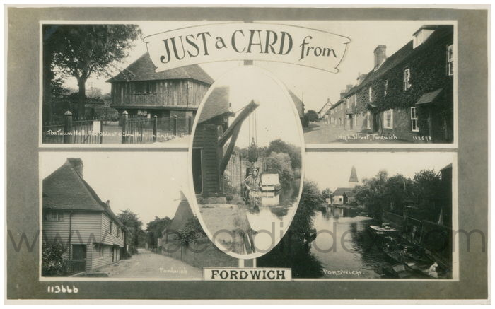 Postcard front: Just a Card from Fordwich