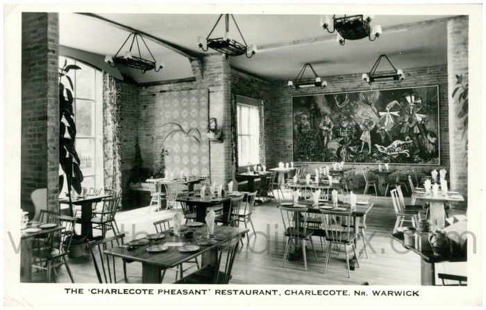 Postcard front: The 'Charlecote Pheasant' Restaurant, Charlecote, Nr. Warwick