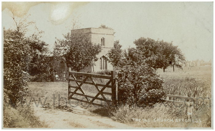 Postcard front: The Old Church, Skegness