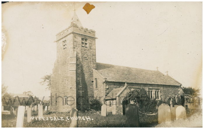 Postcard front: Wyresdale Church