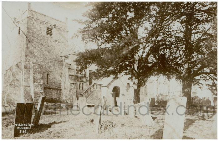 Postcard front: Tissington Church