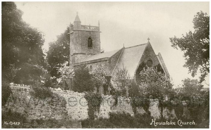 Postcard front: Kewstoke Church