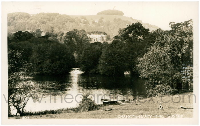 Postcard front: Chanctonbury Ring, Sussex