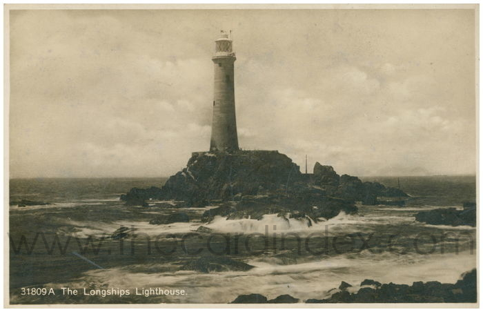 Postcard front: The Longships Lighthouse