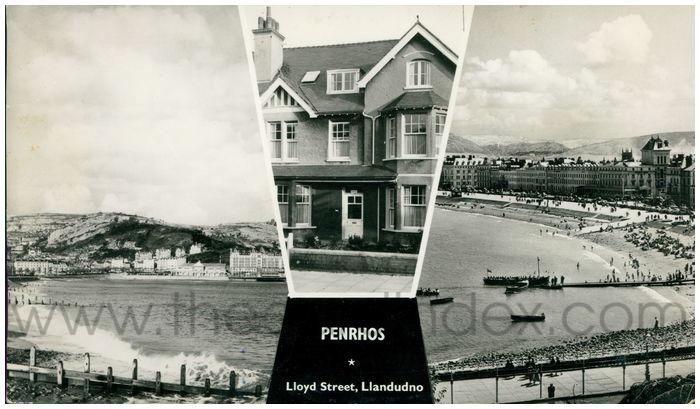 Postcard front: Penrhos, Lloyd Street, Llandudno