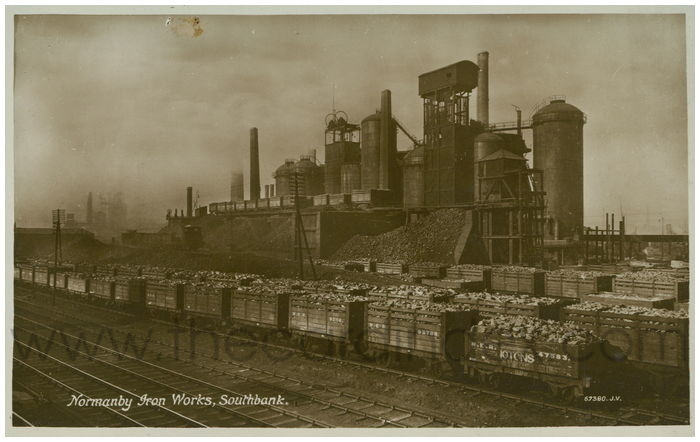 Postcard front: Normanby Iron Works, Southbank.