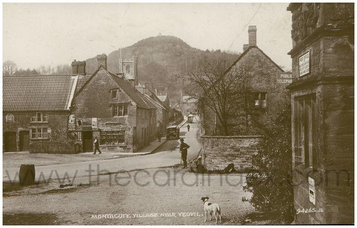 Postcard front: Montacute Village near Yeovil.