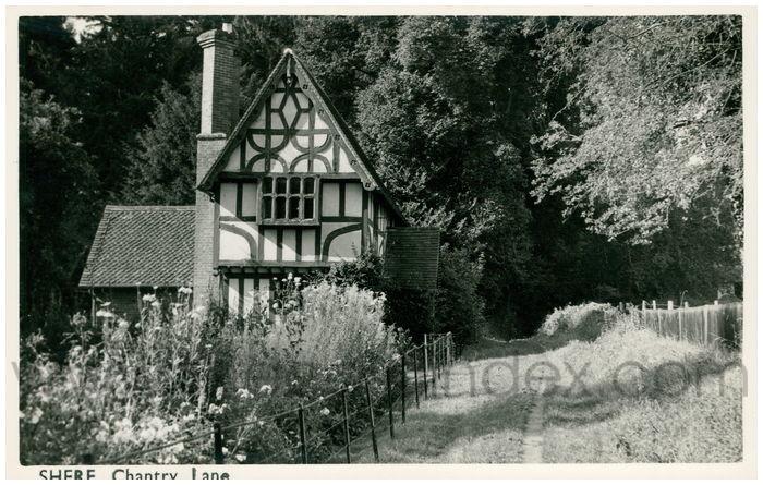 Postcard front: Shere Chantry Lane