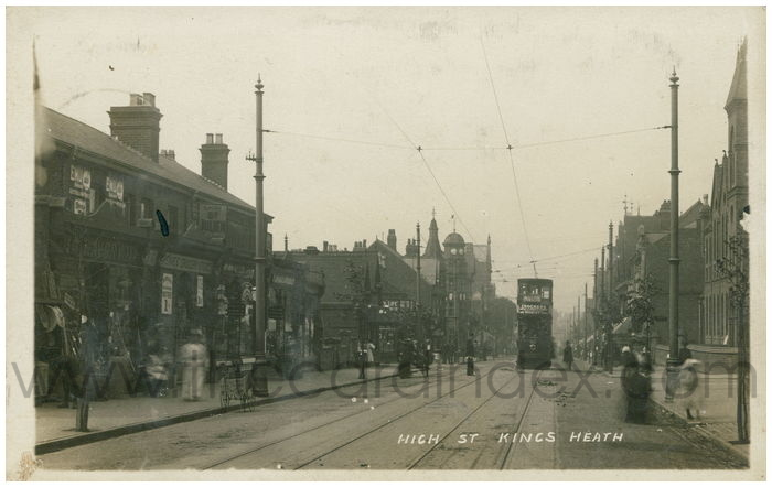 Postcard front: High St Kings Heath