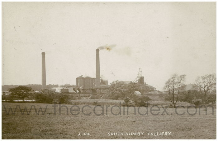 Postcard front: South Kirkby Colliery