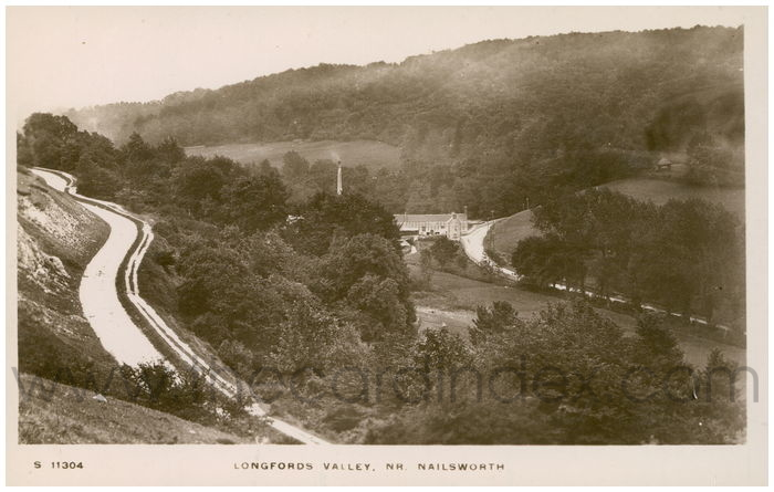 Postcard front: Longfords Valley, Nr. Nailsworth