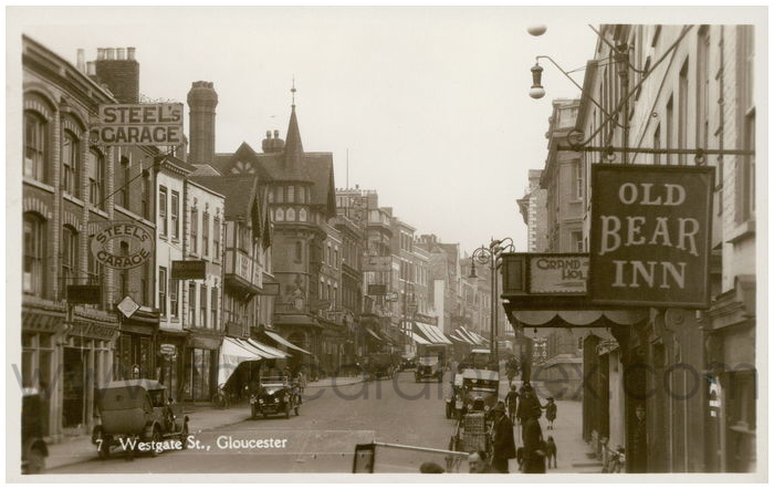 Postcard front: Westgate St., Gloucester
