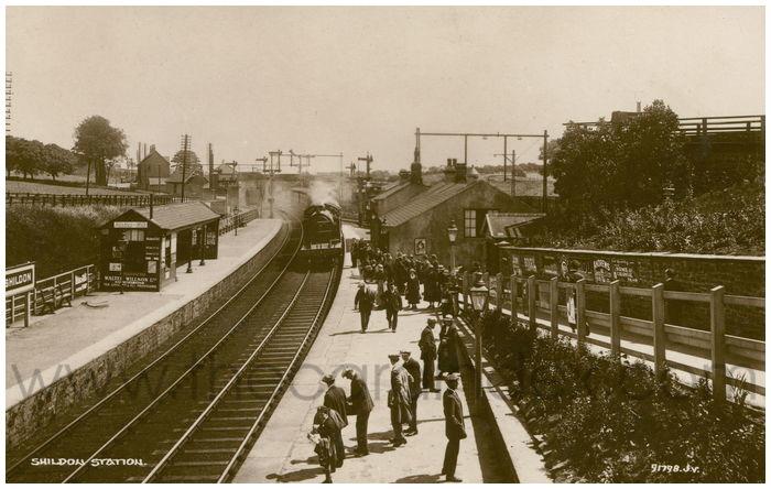 Postcard front: Shildon Station