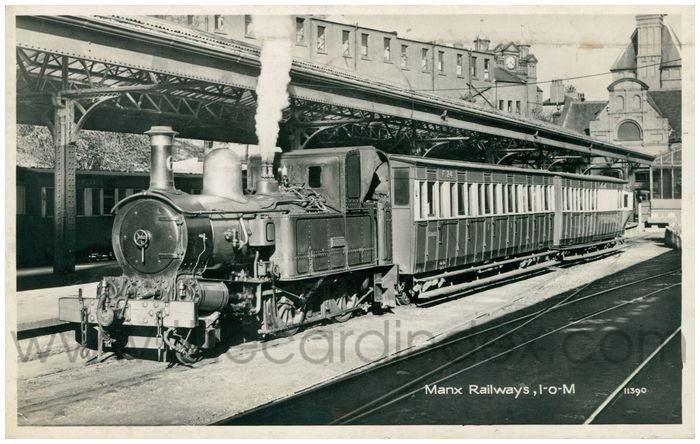 Postcard front: Manx Railways, I-o-M
