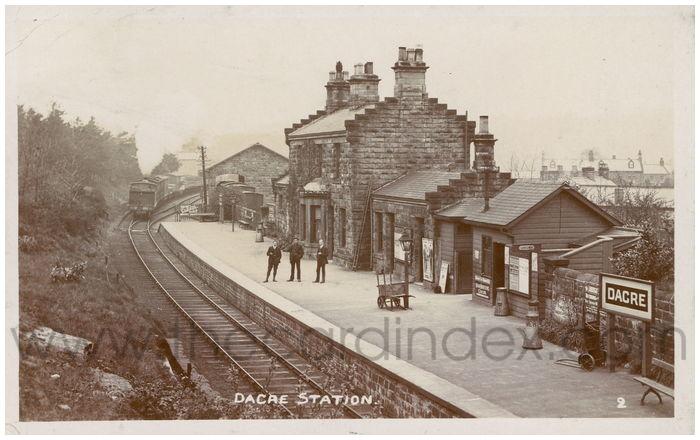 Postcard front: Dacre Station