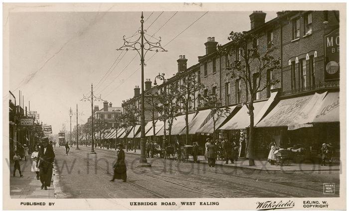 Postcard front: Uxbridge Road, West Ealing