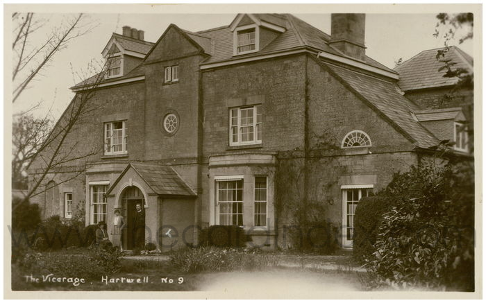 Postcard front: The Vicarage Hartwell