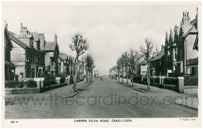 Postcard front: Carmen Sylva Road, Craig-y-Don