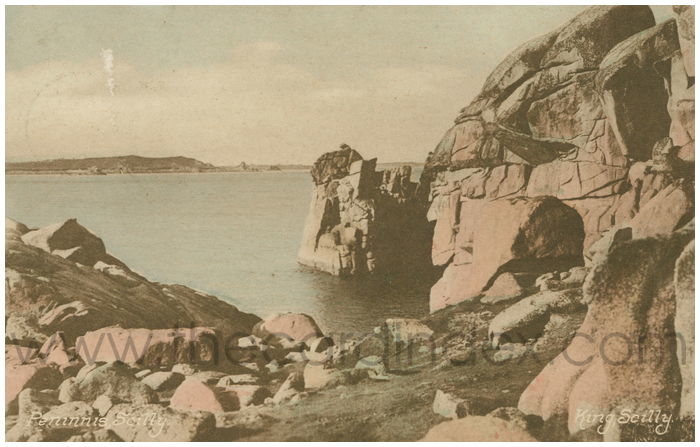 Postcard front: Peninnis, Scilly