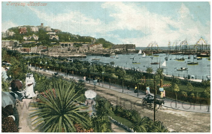 Postcard front: Torquay Harbour
