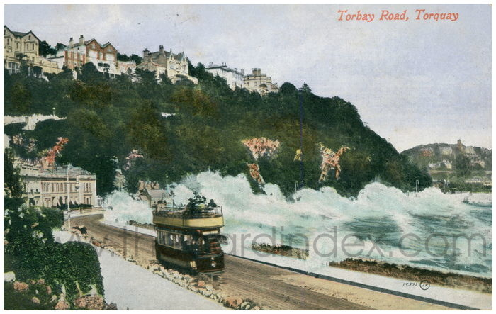 Postcard front: Torbay Road, Torquay