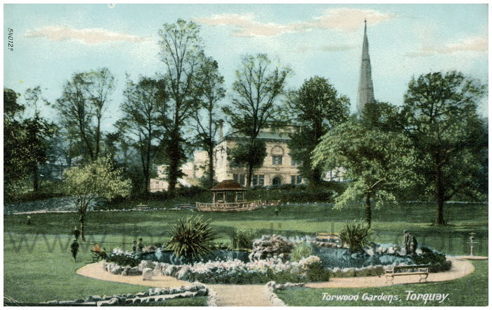 Postcard front: Torwood Gardens, Torquay.