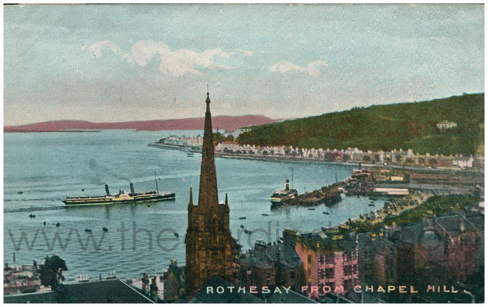 Postcard front: Rothesay from Chapel Hill.